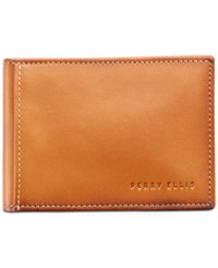 Perry Ellis Portfolio Men's Leather Front-Pocket RFID Wallet