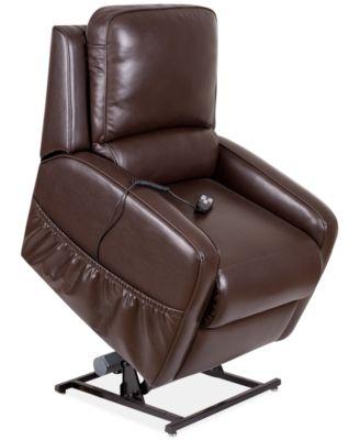 Karwin Leather Power Lift Reclining Chair  sc 1 st  Macyu0027s & Accent Chairs and Recliners - Macyu0027s islam-shia.org