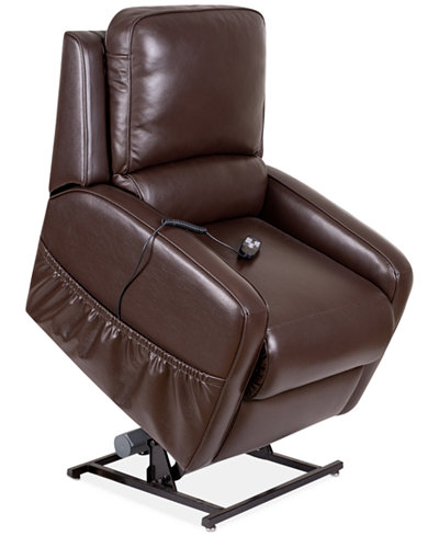 Karwin Leather Power Lift Reclining Chair Furniture Macy S