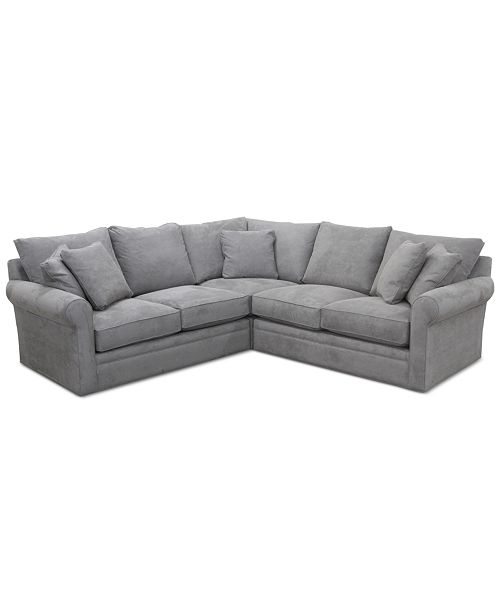 "Furniture Doss II 3-Pc. Fabric ""L"" Loveseat Sectional"