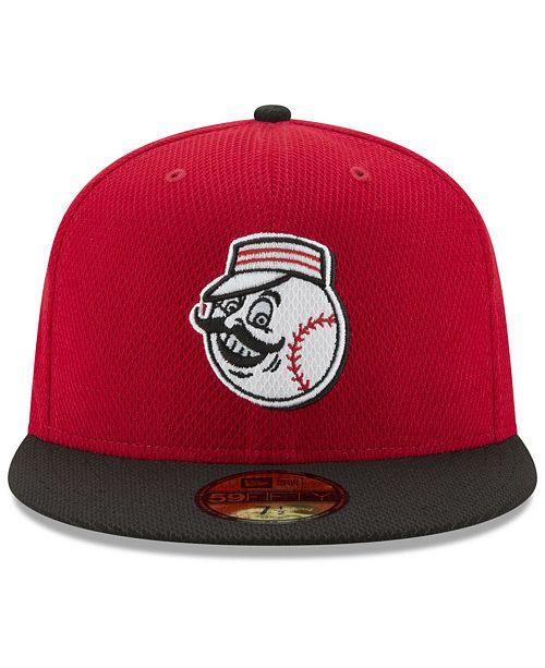size 40 a6ff0 6c77a New Era Cincinnati Reds Batting Practice Diamond Era 59FIFTY Cap - Sports  Fan Shop By Lids - Men - Macy s