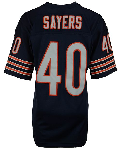 new styles 304e9 ae1be Men's Gale Sayers Chicago Bears Replica Throwback Jersey