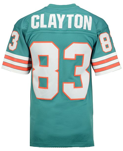 quality design 8ecde 0d667 Men's Mark Clayton Miami Dolphins Replica Throwback Jersey