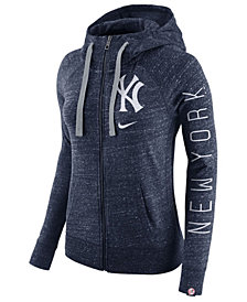 Nike Women's New York Yankees Gym Vintage Full-Zip Hooded Sweatshirt