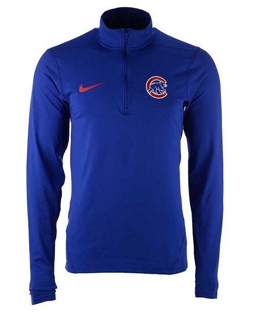 best sneakers 3d3a4 93d2a Nike Men's Chicago Cubs Dry Element Half-Zip Dri-FIT ...