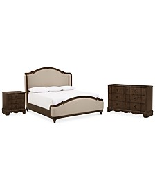 Closeout! Madden Bedroom Furniture, 3-Pc. Set (King Bed, Dresser & Nightstand), Created for Macy's