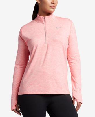 Nike Plus Size Element Dri-FIT Half-Zip Top