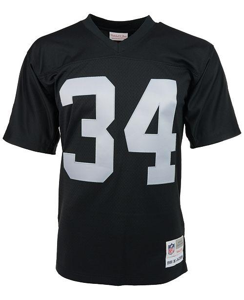 best sneakers 73f98 e7cb7 Men's Bo Jackson Los Angeles Raiders Replica Throwback Jersey