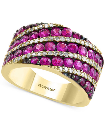 Amoré by EFFY® Certified Ruby (2-3/4 ct. t.w.) and Diamond (1/3 ct. t.w.) Ring in 14k Gold