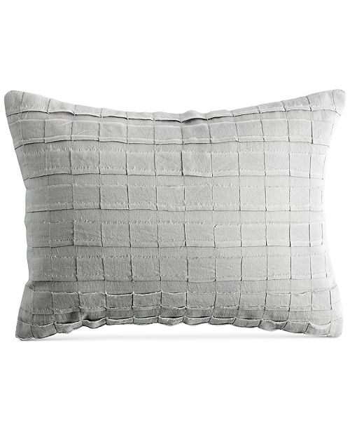 "DKNY PURE Pieced Stripe 12"" x 16"" Decorative Pillow"