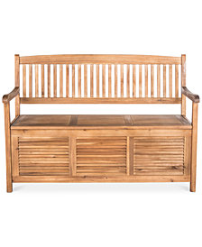 Eleta Outdoor Storage Bench, Quick Ship