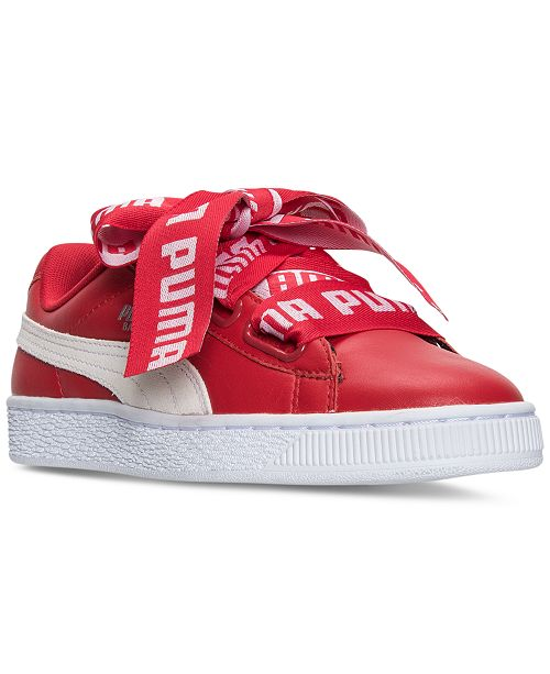 new arrival 4412d 03291 ... Puma Women s Basket Heart DE Casual Sneakers from Finish ...