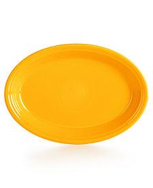 """Fiesta Daffodil 13"""" Oval Platter"""