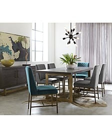 Cambridge Dining 7-Pc. Set (Dining Table, Teal & Grey Side Chairs), Created for Macy's