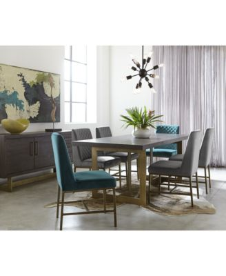 Furniture Cambridge Dining Furniture, 7 Pc. Set (Dining Table, 4 Gray Side  Chairs U0026 2 Teal Side Chairs), Created For Macyu0027s   Furniture   Macyu0027s
