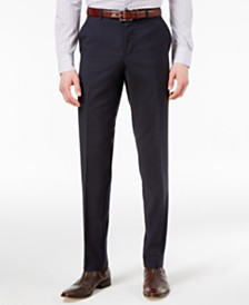 HUGO Men's Navy Slim-Fit Pants
