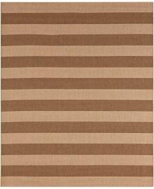 CLOSEOUT! Karastan Portico Riviera Stripe  8' x 10' Indoor/Outdoor Area Rug