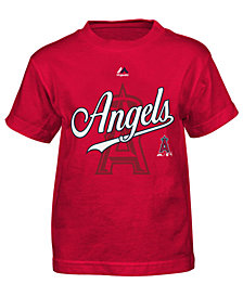 Majestic MLB Los Angeles Angels Game T-Shirt, Little Boys (4-7)