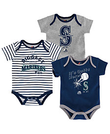 Majestic Seattle Mariners Homerun 3-Piece Set, Baby Boy (12-18 months)