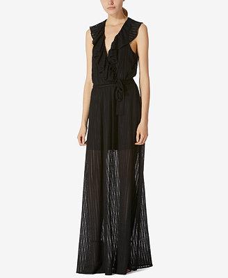 Stretch Lace Wrap Maxi Dress by Avec Les Filles