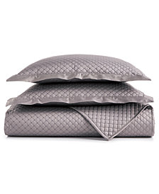 Charter Club Damask Cotton 3-Pc Quilted Coverlet and Sham Collection, Created for Macy's