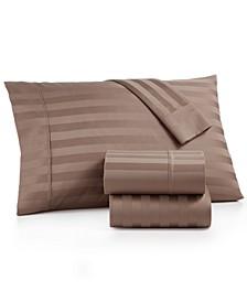 Bergen Stripe 4-Pc. Full Sheet Set, 1000 Thread Count 100% Certified Egyptian Cotton