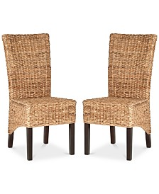 Horden Set of 2 Wicker Dining Chairs, Quick Ship