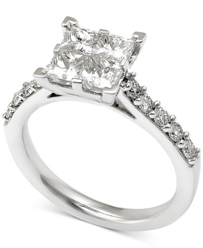 Diamond Quad Engagement Ring (2 ct. t.w.) in 14k White Gold