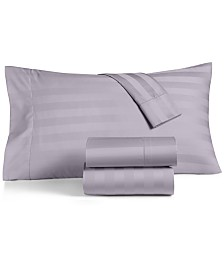 CLOSEOUT! Charter Club Damask Stripe Sheet Sets, 550 Thread Count 100% Supima Cotton, Created for Macy's