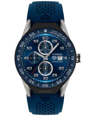 Modular Connected 2.0 Men's Swiss Blue Rubber Strap Smart Watch 45mm SBF8A8012.11FT6077
