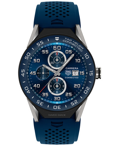 TAG Heuer Modular Connected 2.0 Men's Swiss Blue Rubber Strap Smart Watch 45mm SBF8A8012.11FT6077