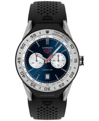 Modular Connected 2.0 Men's Swiss Black Rubber Strap Smart Watch 45mm SBF8A8014.11FT6076