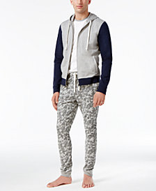 Bar III Men's Cotton Colorblock Hoodie, T-Shirt & Camo Pants, Created for Macy's