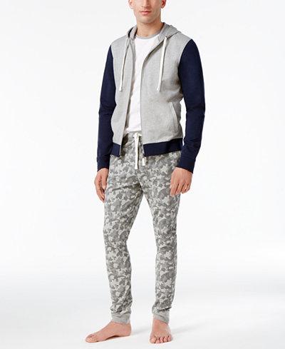 Bar III Men's Cotton Colorblock Hoodie, T-Shirt & Camo Pants, Created for Macy's