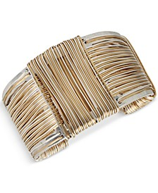 Two-Tone Wrapped Sculptural Cuff Bracelet