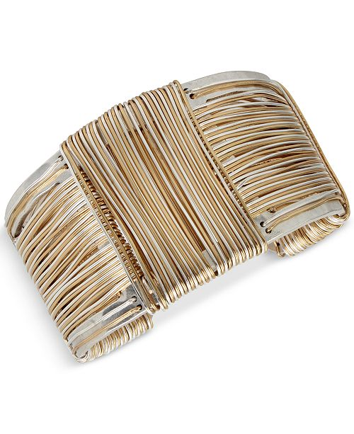 Robert Lee Morris Soho Two-Tone Wrapped Sculptural Cuff Bracelet