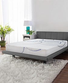 "SensorGel 8"" Firm Cool Gel Memory Foam Mattress PLUS Adjustable Base, Quick Ship, Mattress In A Box- King"