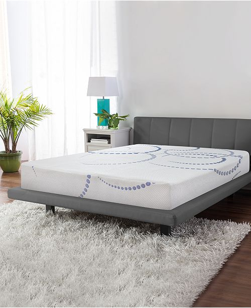 "SensorGel 8"" Firm Cool Gel Memory Foam Mattress, Quick Ship, Mattress In A Box- Full"