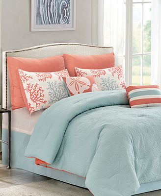 CLOSEOUT! Carina Reversible 8-Pc. Quilted Comforter Sets