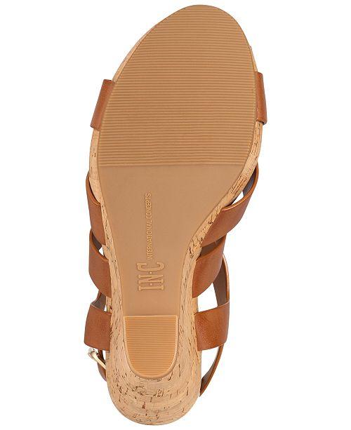 88dd4721e41c INC International Concepts I.N.C. Women s Landor Strappy Wedge Sandals