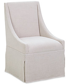 CLOSEOUT! Astor Upholstered Castered Dining Chair