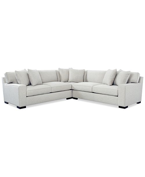 Bangor 3-Pc.Sectional Sofa, Created for Macy\'s
