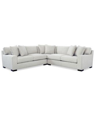 Bangor 3-Pc.Sectional Sofa Created for Macyu0027s  sc 1 st  Macyu0027s : sectional macys - Sectionals, Sofas & Couches
