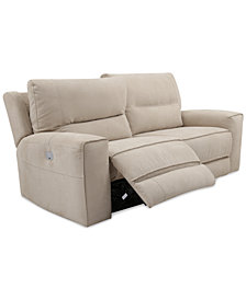 "CLOSEOUT! Genella 83"" Power Reclining Sofa with Power Headrest and USB Power Outlet"