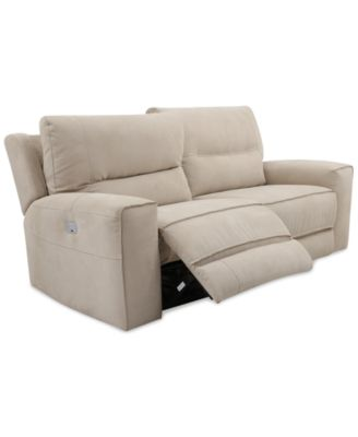 Genella Power Reclining Sofa With Power Headrest And USB Power Outlet.  Furniture