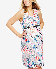 Motherhood Maternity Floral-Print A-Line Dress