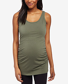 Motherhood Maternity Ruched Scoop-Neck Tank Top