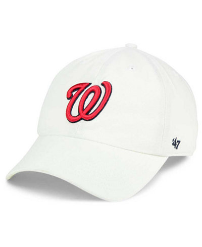 '47 Brand Washington Nationals White Clean Up Cap
