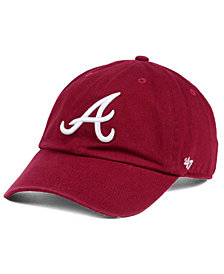 '47 Brand Atlanta Braves Cardinal and White Clean Up Cap