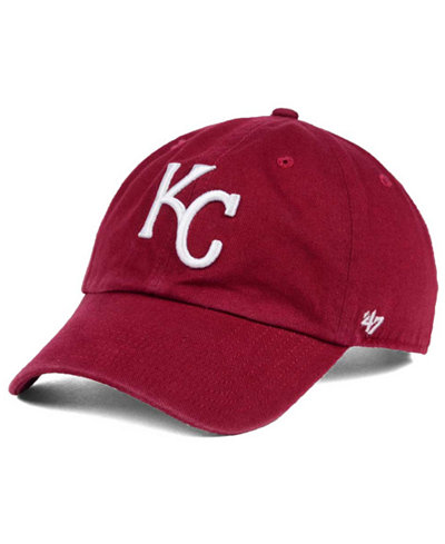 '47 Brand Kansas City Royals Cardinal and White Clean Up Cap